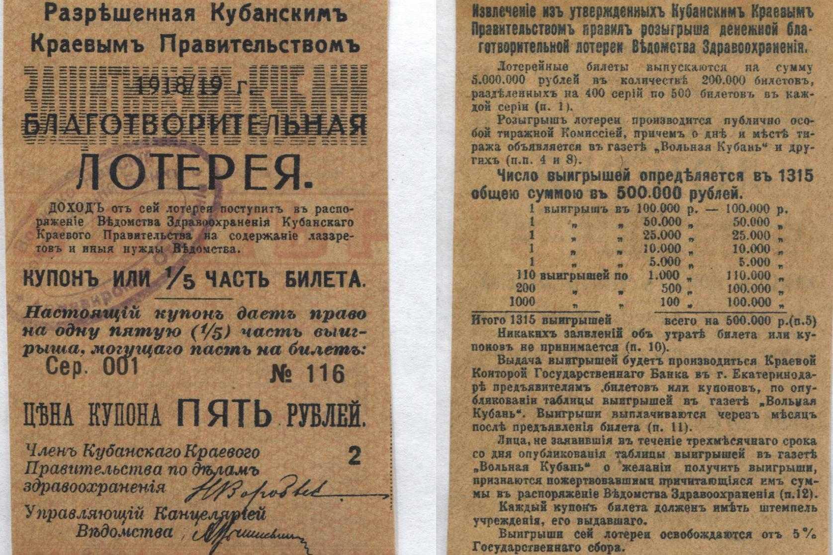 Когда появилась лотерея? лотереи во все времена, во всем мире и в россии