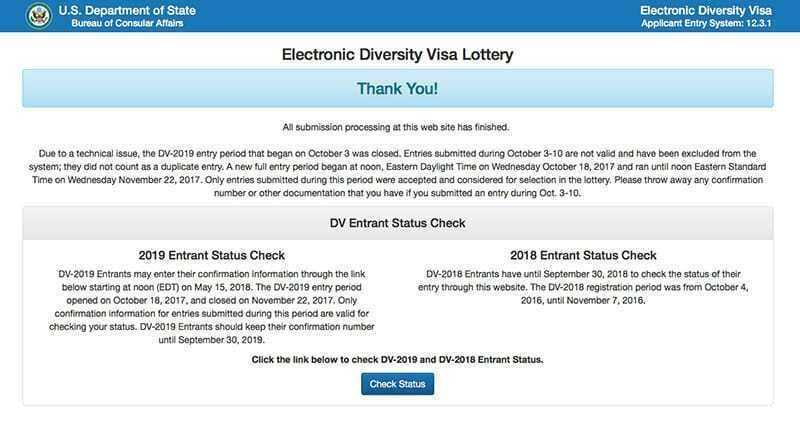 Результаты лотереи green card dv-2020